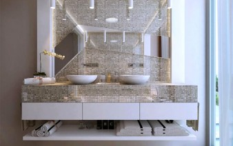 beautiful romantic bathroom interior 338x212