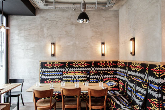 benches-aztec-prints-dining-area