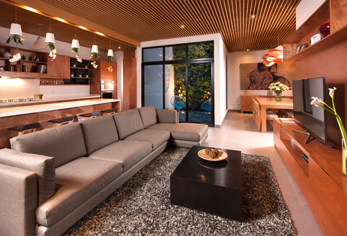 warm color ambiance artistic elements living room