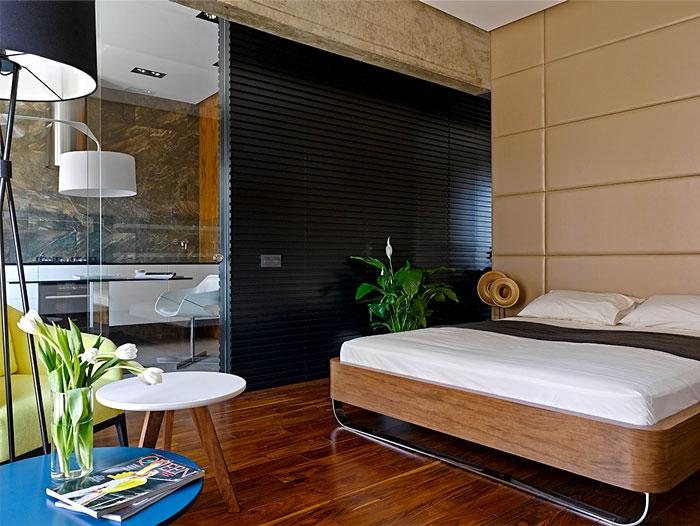chic moscow studio bedroom 2
