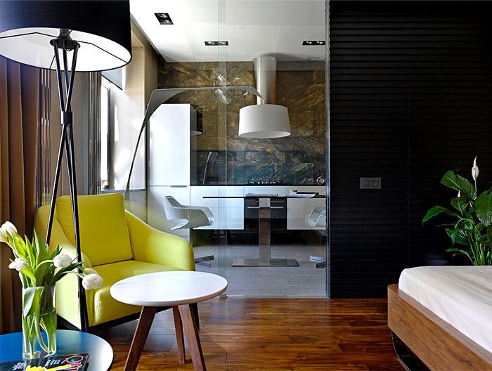 chic moscow studio bedroom 3