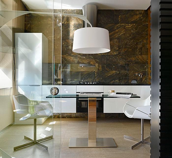 chic moscow studio kitchen 4