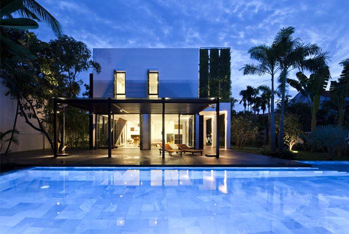white cube house