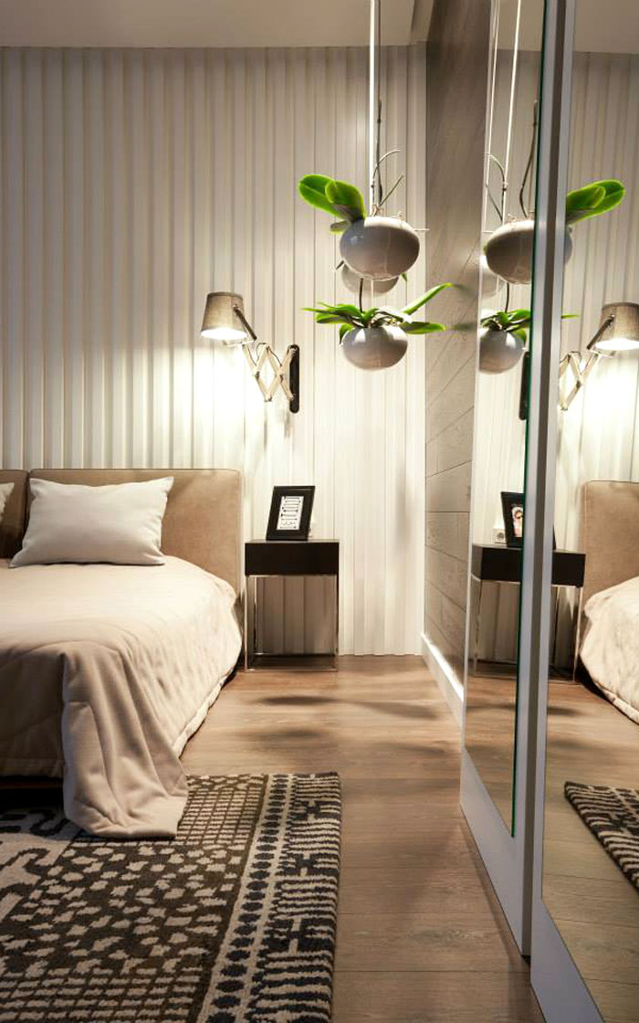 Bedroom-decor-with-hanging-greenery