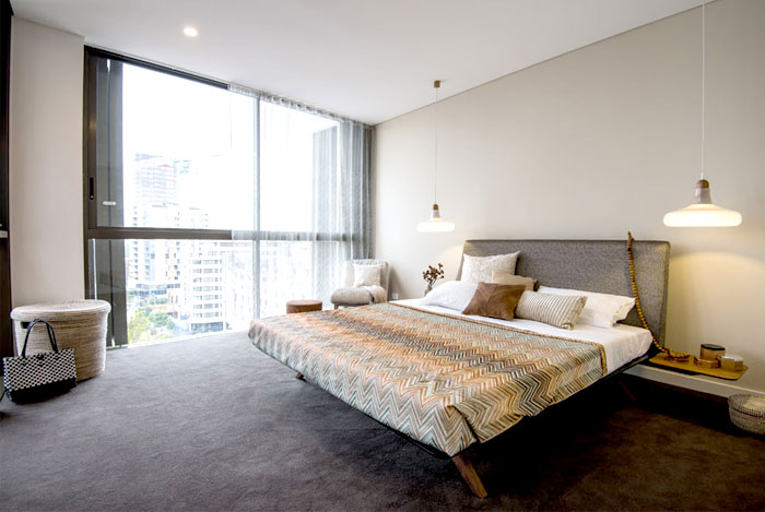 bedroom-natural linen-wood-sand-beige-colors