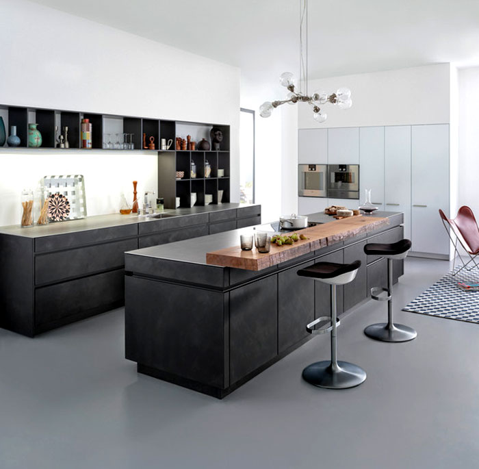 Bauhaus Kitchen Design: Concrete Kitchen At Cologne Furniture Fair