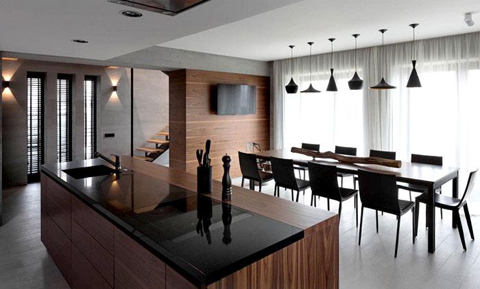 black-copper-lamps-kitchen