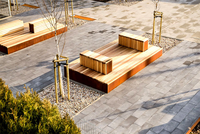 public space greenery arrangement 3xa 5