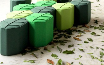 upholstered wool pouf 338x212