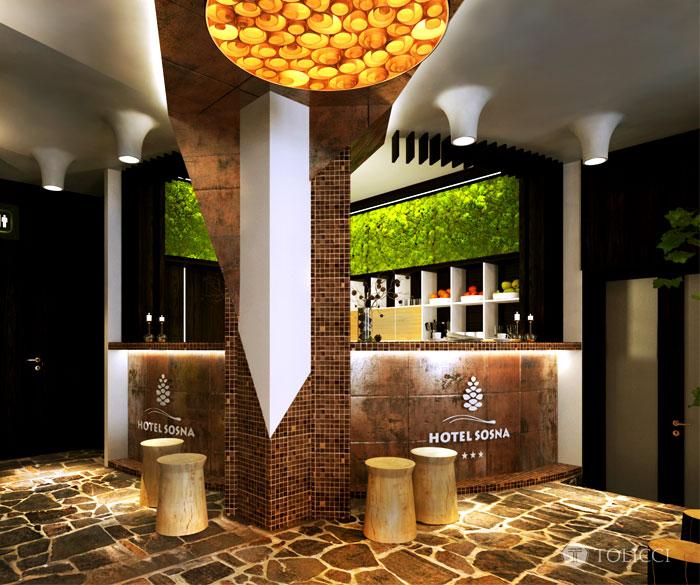 hotel sosna reception area