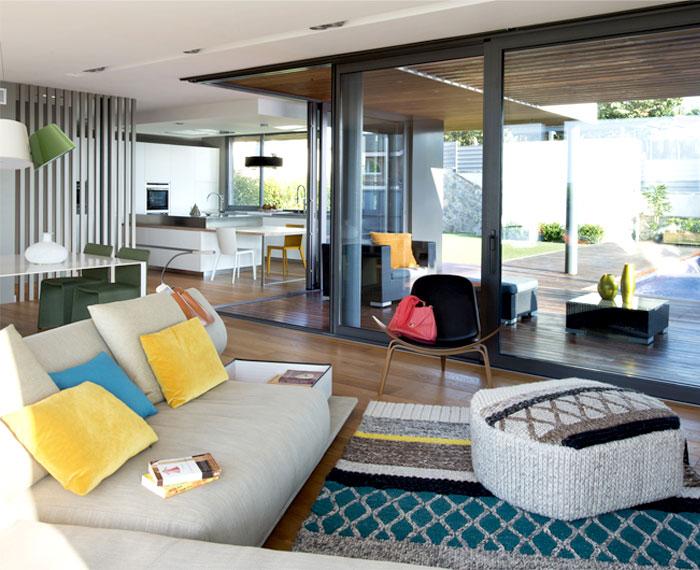 functional modern dwelling living room