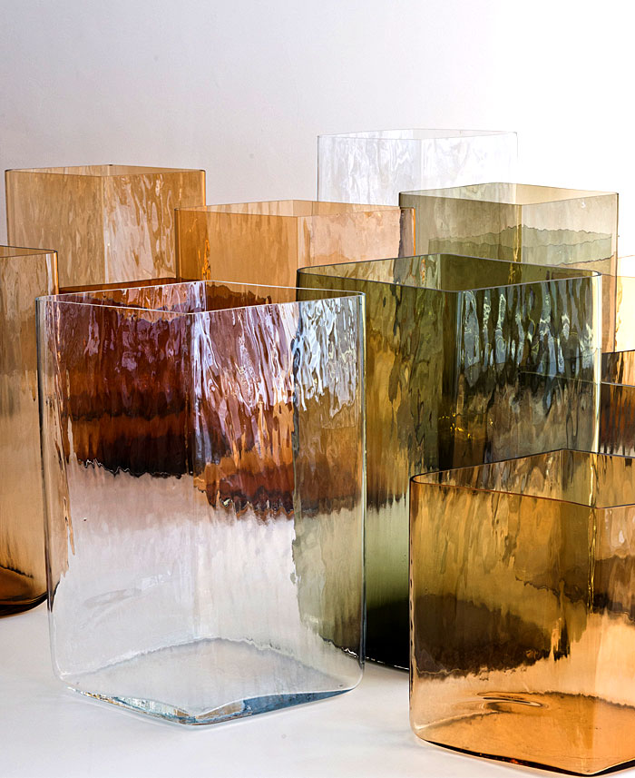 ruutu vases glass bouroullec brothers