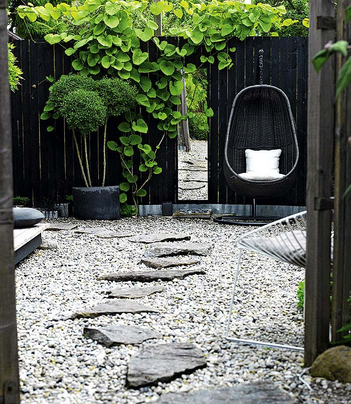 contemporary zen garden backyard ideas