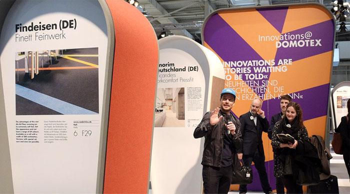 ideas innovations flooring design domotex 7