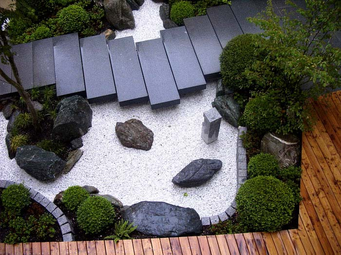 inspired granite path zen garden idea