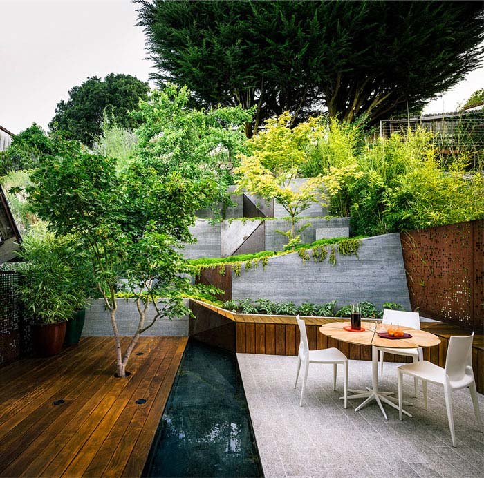 outdoor space modern zen backyard