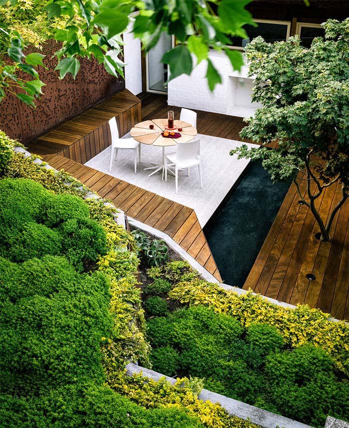 outdoor space urban zen garden style