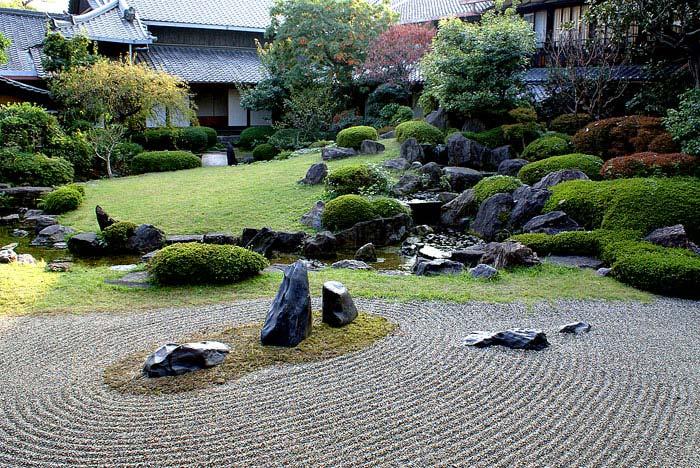 shitenno ji honbo garden osaka japan