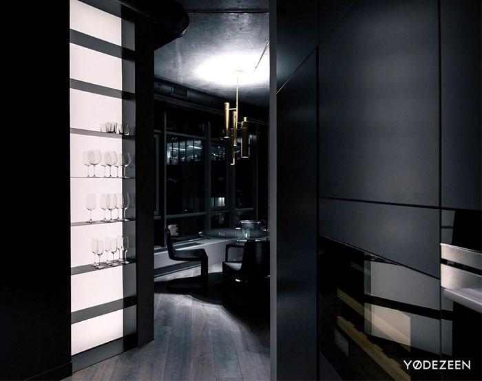 trendy dark bachelor apartment 18