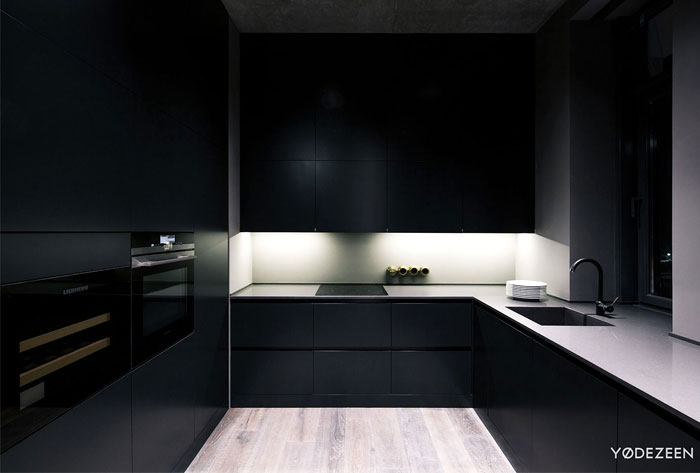 trendy dark bachelor apartment 19