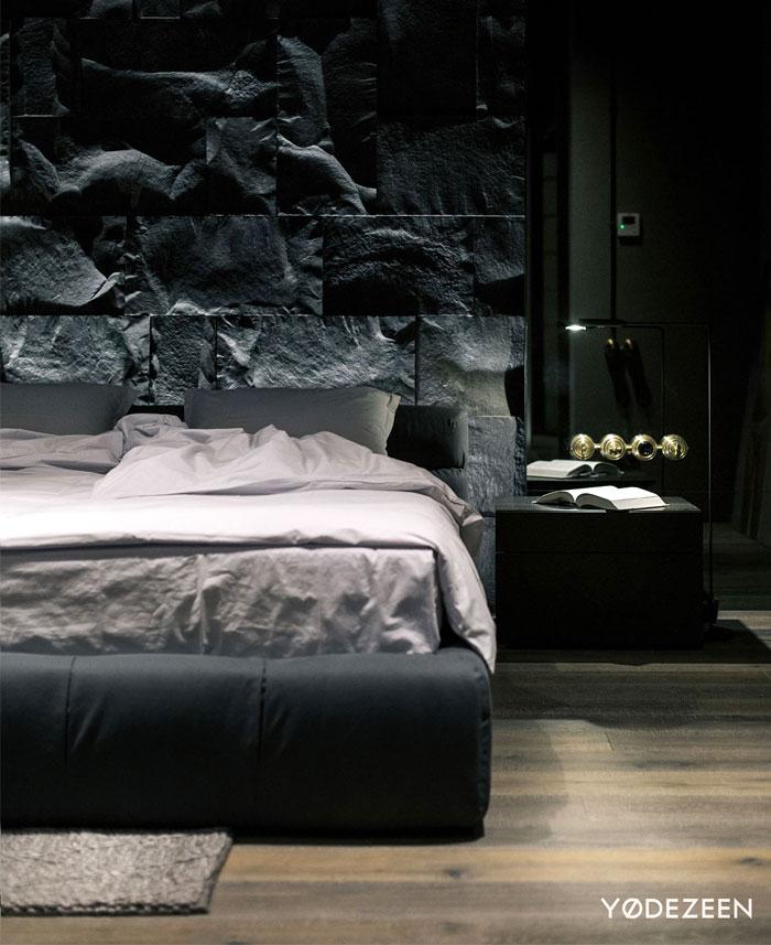 trendy dark bachelor apartment 23