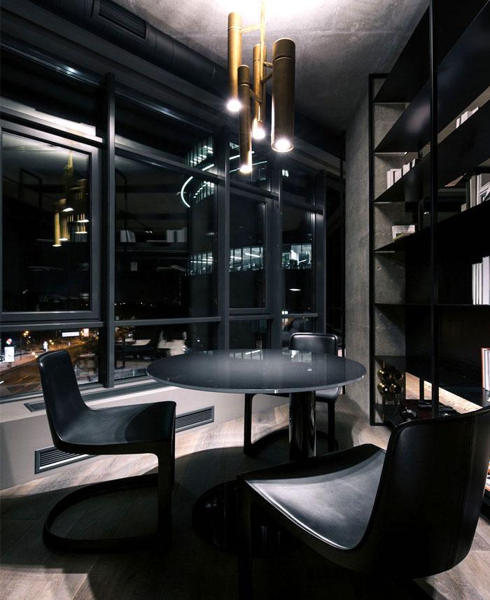 trendy dark bachelor apartment 26