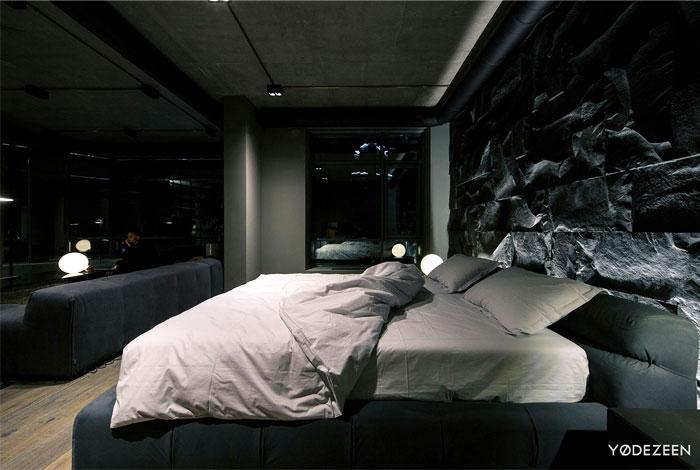 trendy dark bachelor apartment 3