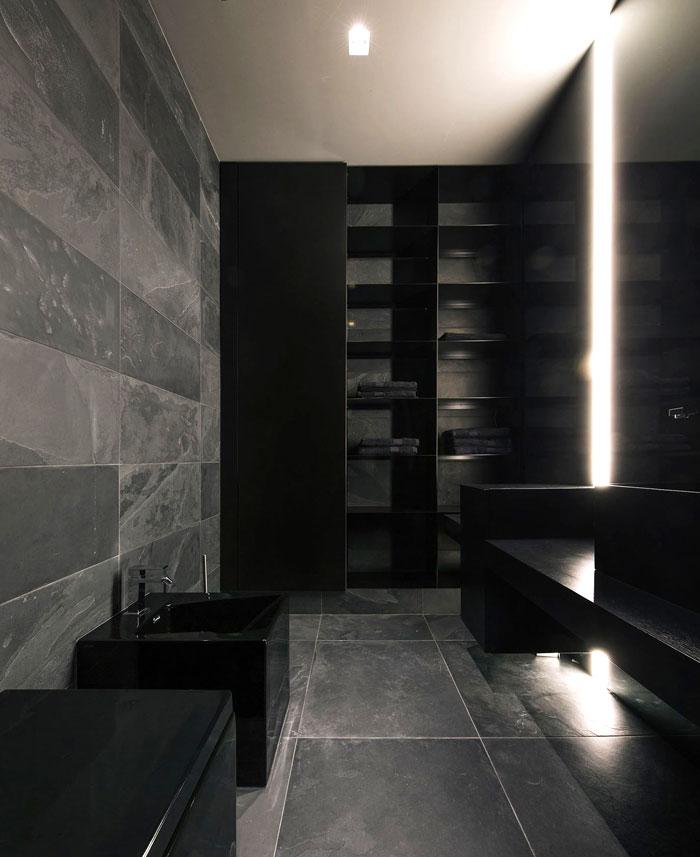 trendy dark bachelor apartment 7