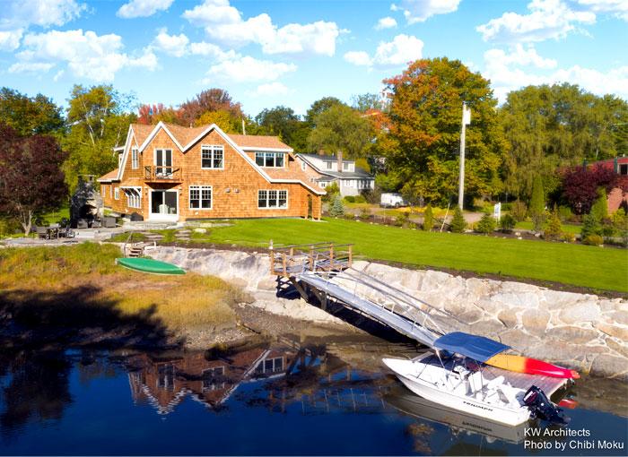 shingle style cottage kw architects 14