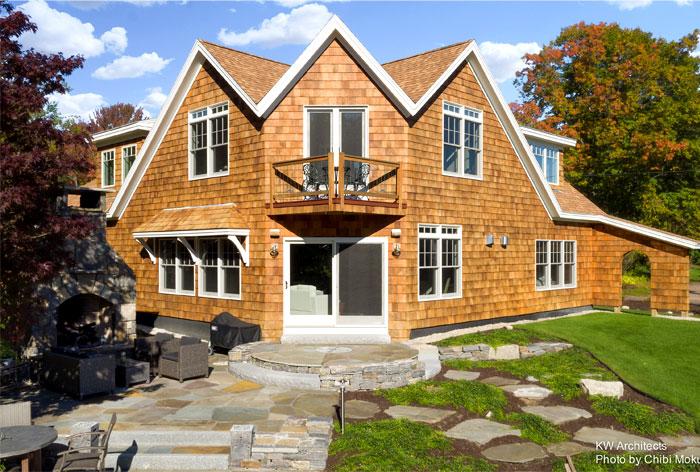 shingle style cottage kw architects 15