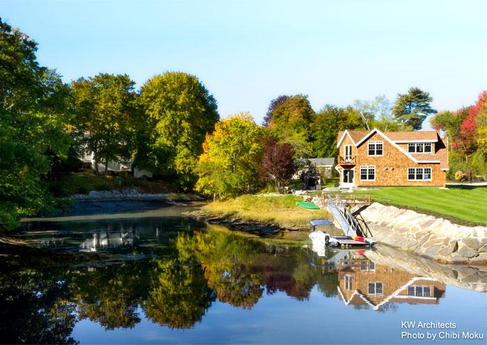 shingle style cottage kw architects 16