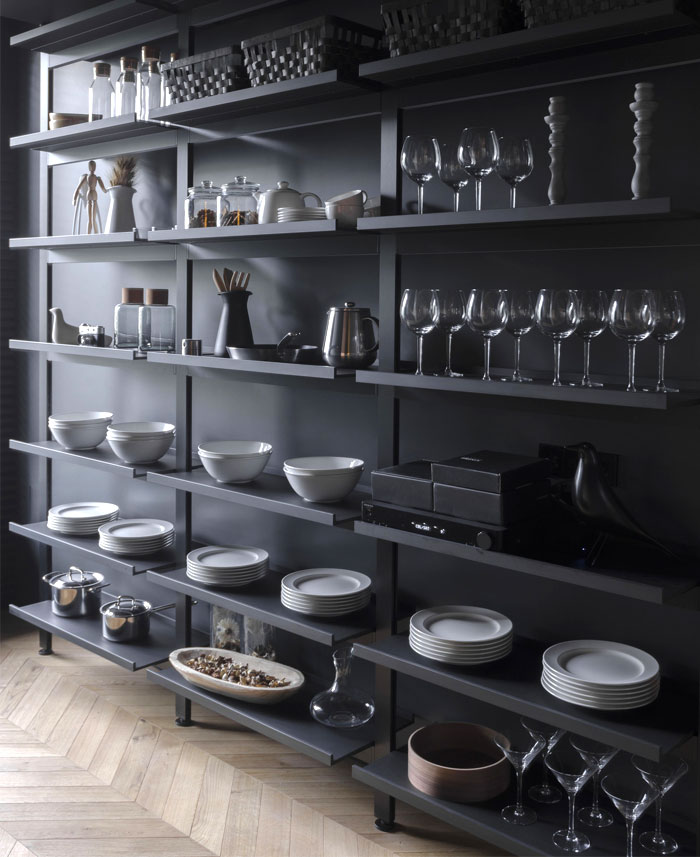 black stylistic masculine apartment line architects 4