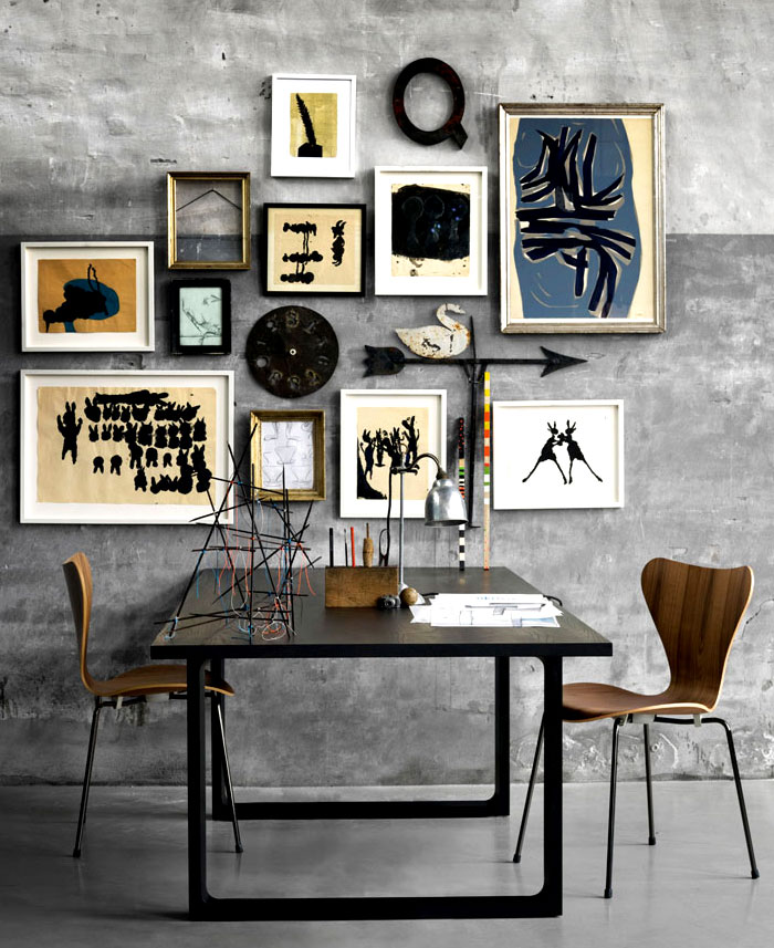 dining room art gallery wall decor ideas 3