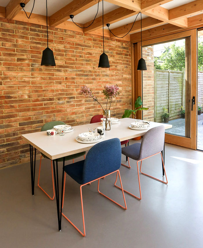 dining room brick walls decor ideas 5