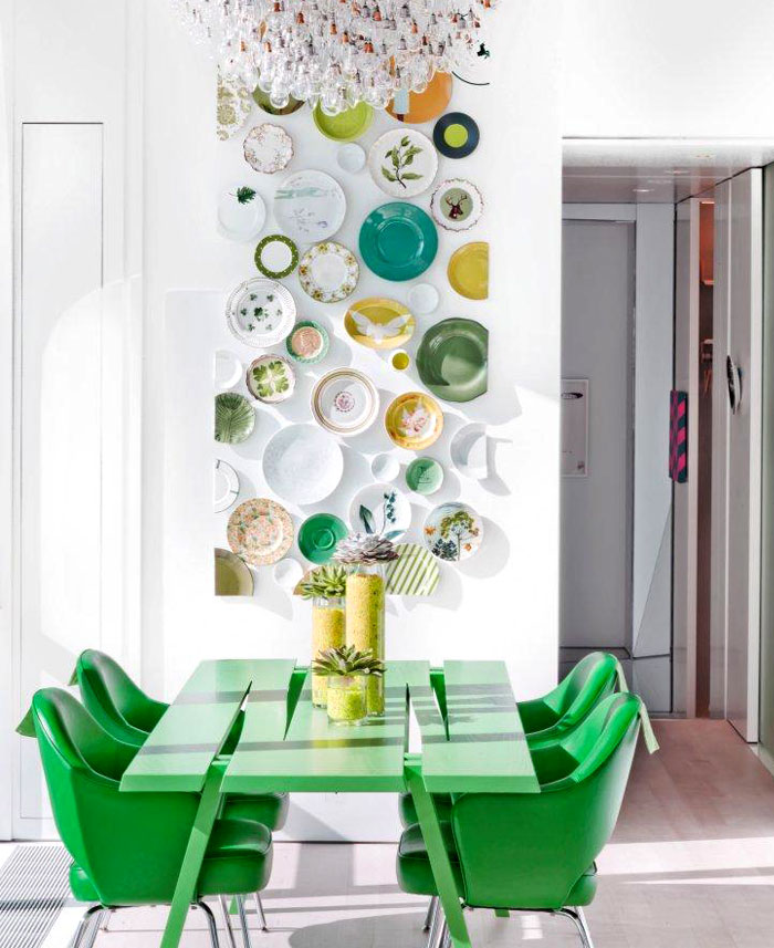 dining room plate wall decor ideas 1