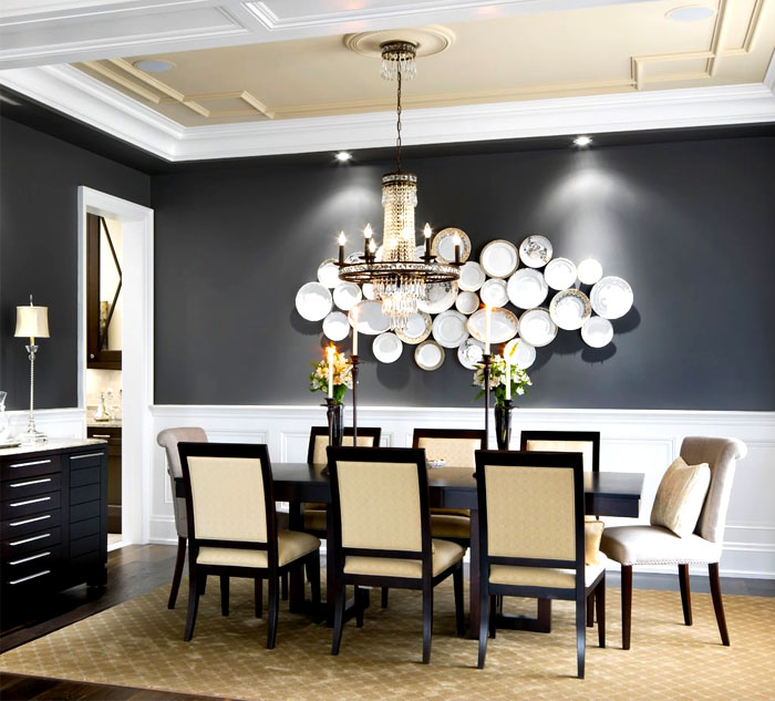 dining room plate wall decor ideas 3