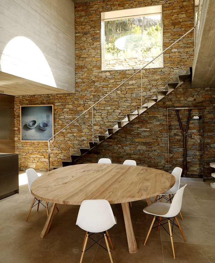 dining room stone walls decor ideas 2
