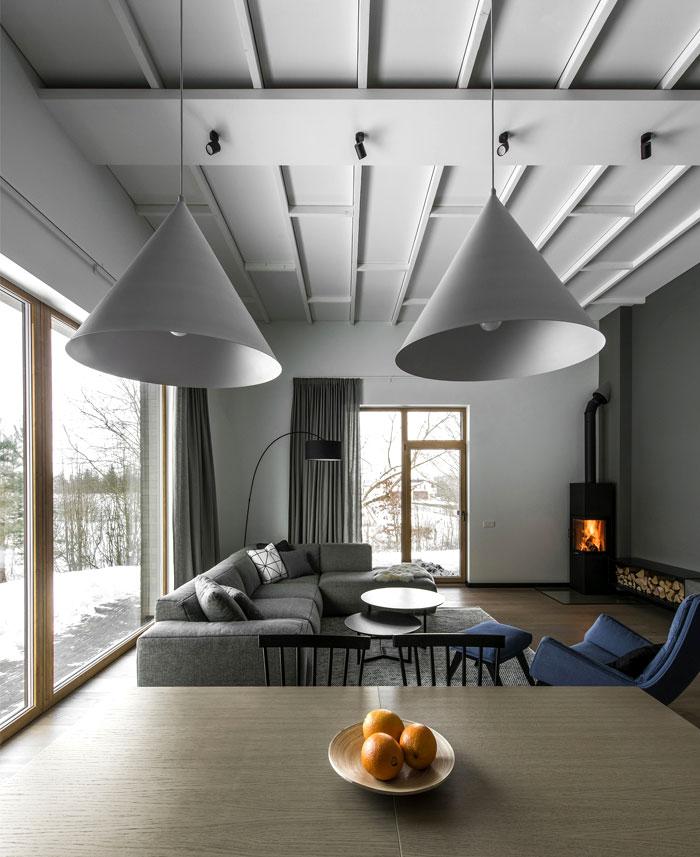 open floor plan project interjero architektura 11
