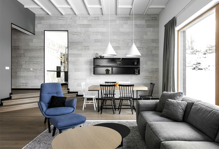open floor plan project interjero architektura 15
