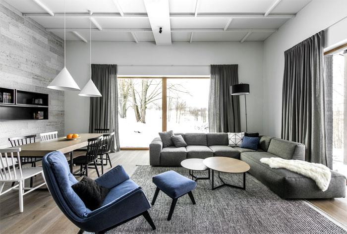 open floor plan project interjero architektura 18
