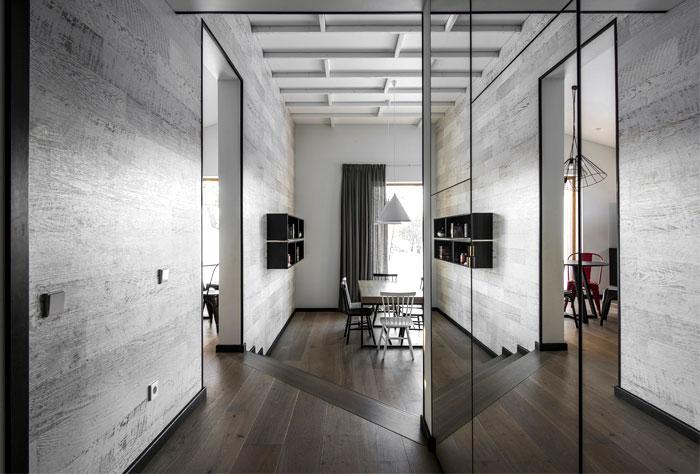 open floor plan project interjero architektura 22