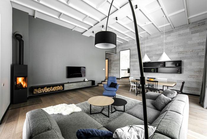 open floor plan project interjero architektura 6