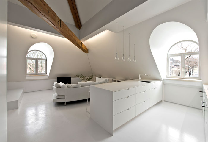 small mezzanine apartment lithuania interiorzine 11