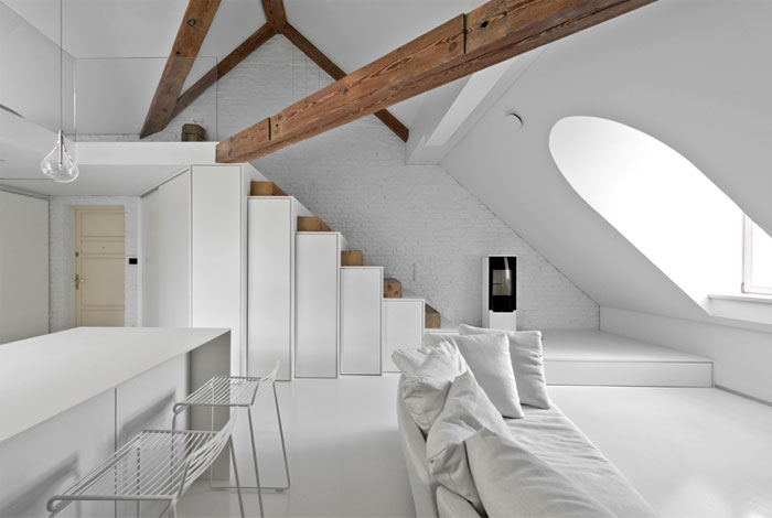 small mezzanine apartment lithuania interiorzine 13