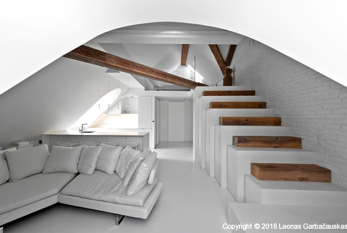 small mezzanine apartment lithuania interiorzine 4