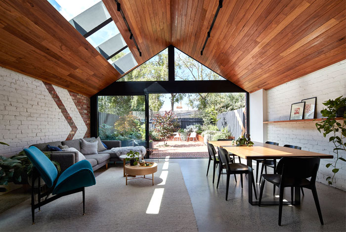 a for architecture transforms cottage two story home 8