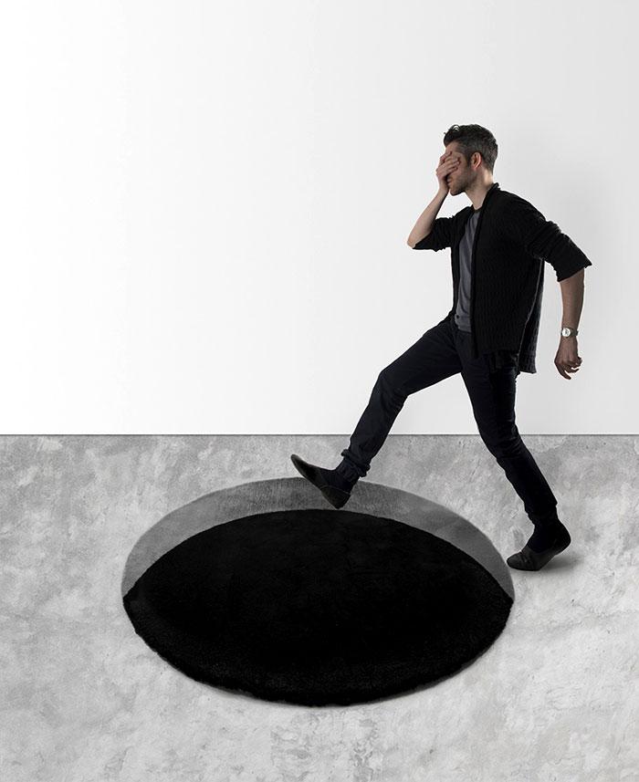 optical illusion void rug 1