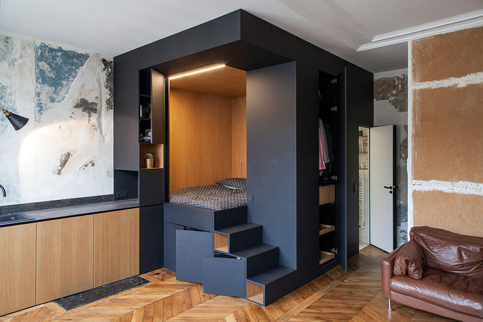 50 Small Studio Apartment Design Ideas 2020 Modern Tiny Clever Interiorzine