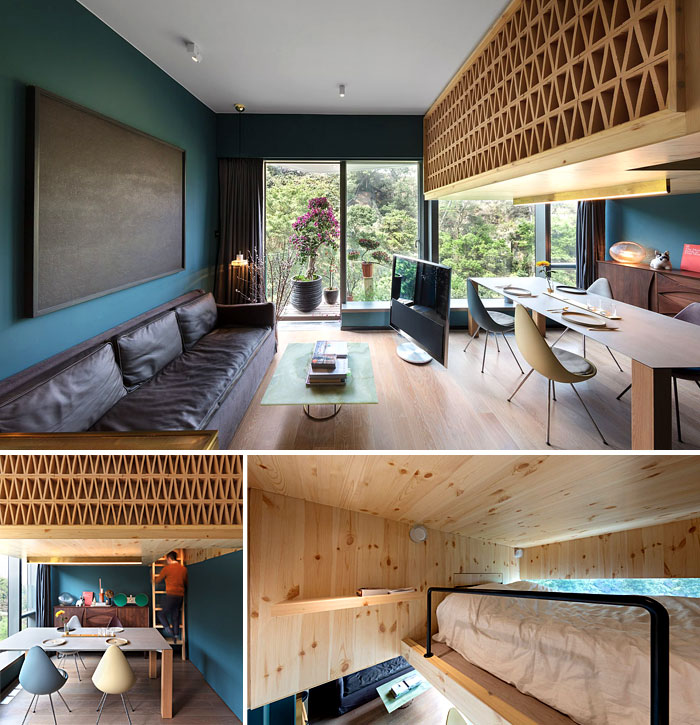 decorative attractive wooden accent of the interior