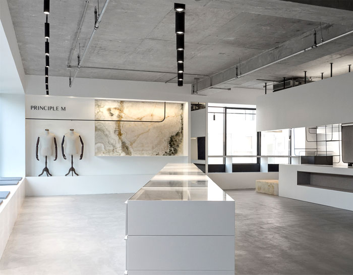 Minimalist Showroom Decor By Mddm Studio Interiorzine